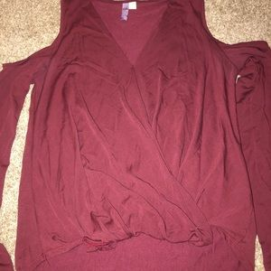 Alya maroon long sleeve shirt from Francesca's!